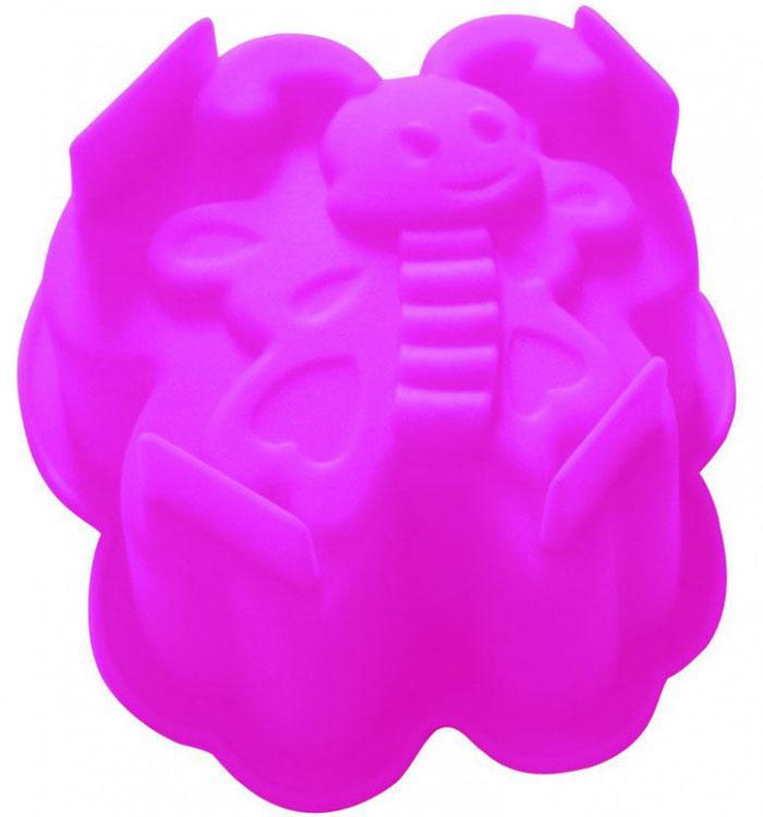 Форма для выпечки и заморозки Мотылек93-SI-FO-96Форма для выпечки и заморозки Мотылек выполнена из силикона и предназначена для изготовления выпечки, конфет, мармелада, желе, льда и даже мыла. С помощью формы в виде забавного мотылька любой день можно превратить в праздник и порадовать детей. Силиконовые формы выдерживают высокие и низкие температуры (от -40°С до +230°С). Они эластичны, износостойки, легко моются, не горят и не тлеют, не впитывают запахи, не оставляют пятен. Силикон абсолютно безвреден для здоровья. Не используйте моющие средства, содержащие абразивы. Можно мыть в посудомоечной машине. Подходит для использования во всех типах печей.