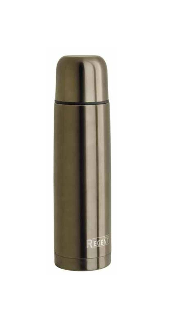 Термос Regent Inox, 1 л, цвет: светло-коричневый. TE-B-1-1000B93-TE-B-1-1000BТермос Regent Inox изготовлен из высококачественной пищевой нержавеющей стали с современной технологией теплоизолляции и цветным покрытием Soft Touch. Высокая надёжность и долговечность. Имеется глубокий вакуум и двойная металлическая колба, способствующая более длительному сохранению тепла. Термос удобен в использовании дома, на даче, в турпоходе и на рыбалке. Пригодится на работе, в офисе и командировке, экономит электроэнергию и время. Прилагается чехол из кожзама, на ремне.