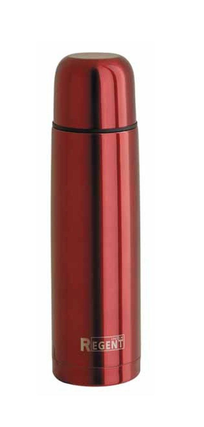 Термос Regent Inox, 0,8 л, цвет: красный. 93-TE-B-1-800R93-TE-B-1-800RТермос Regent Inox изготовлен из высококачественной пищевой нержавеющей стали с современной технологией теплоизоляции и цветным покрытием Soft Touch. Высокая надёжность и долговечность. Имеется глубокий вакуум и двойная металлическая колба, способствующая более длительному сохранению тепла. Термос удобен в использовании дома, на даче, в турпоходе и на рыбалке. Пригодится на работе, в офисе и командировке, экономит электроэнергию и время. Прилагается чехол из кожзама, на ремне.