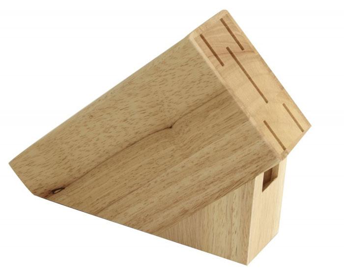 Подставка для набора ножей Block. 93-WB3-5S93-WB3-5SПодставка для набора ножей Linea Block выполнена из натурального дерева гевея. Подставка рассчитана на шесть ножей. Конструкция подставки отличается устойчивостью, мягкие накладки на дне служат для предотвращения потертости кухонного стола. Подставка для набора ножей Linea Block - это экологически чистый и незаменимый предмет кухонного интерьера, позволяющий хранить ножи компактно и удобно.