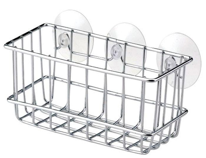 Полочка для ванной комнаты Regent Inox Casa, 20 см х 9 см х 8 см402006Полочка для ванной комнаты Regent Inox Casa, выполненная из высококачественного хромированного металла, пригодится и на кухне и в ванной комнате. На эту полку вы сможете положить мыло и другие принадлежности ванной комнаты или кухни. Благодаря компактным размерам полка впишется в интерьер вашего дома и позволит вам удобно и практично хранить предметы домашнего обихода. Оригинальный дизайн изделия, несомненно, украсит ваш интерьер. В комплект входят круглые прозрачные держатели на присосках.