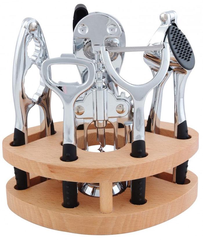 Набор кухонный Regent Inox, 7 предметов93-CN-03-S2В кухонный набор Regent Inox входят надёжные и удобные в использовании кухонные принадлежности, необходимые в каждом доме. Предметы имеют удобные нескользящие ручки с пластиковыми вставками soft touch, рабочие части выполнены из высококачественной стали.
