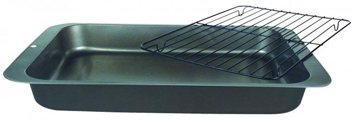 Противень глубокий Regent Inox Easy с решеткой-гриль, 36 см х 27 см х 4,5 см93-CS-EA-2-05Противень Regent Inox Easy выполнен из высококачественной углеродистой стали и снабжен антипригарным керамическим покрытием, что обеспечивает ему прочность и долговечность. С решёткой можно приготовить вкусные и полезные запеченные блюда без использования масла. Лишний жир стечёт в противень с антипригарным покрытием. Без решётки можно использовать для выпечки. Противень равномерно и быстро прогревается, что способствует лучшему пропеканию пищи. Его легко чистить. Готовая выпечка без труда извлекается. Противень подходит для использования в духовке с максимальной температурой 250°С. Перед каждым использованием противень необходимо смазать небольшим количеством масла. Чтобы избежать повреждений антипригарного покрытия, не используйте металлические или острые кухонные принадлежности. Можно мыть в посудомоечной машине.