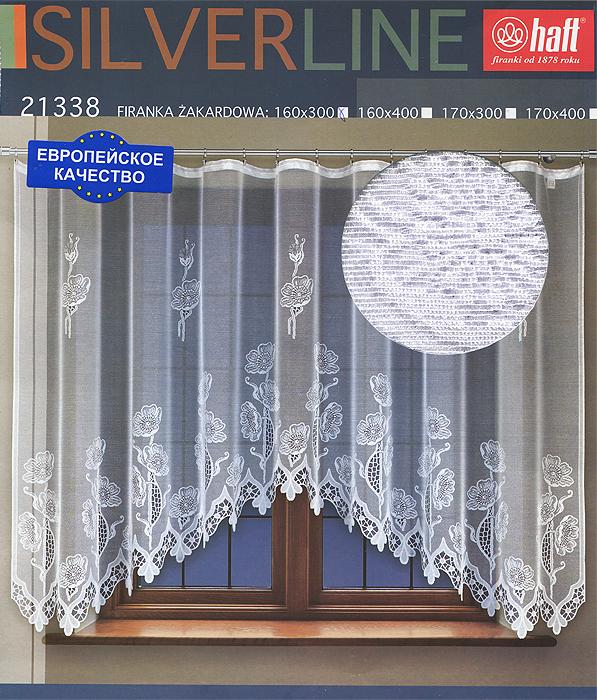 Гардина Haft, на ленте, цвет: белый, высота 160 см. 637219637219Воздушная гардина Haft, изготовленная из полиэстера белого цвета, станет великолепным украшением любого окна. Оригинальный цветочный рисунок привлечет к себе внимание и органично впишется в интерьер комнаты. В гардину вшита шторная лента. Характеристики: Материал: 100% полиэстер. Размер упаковки: 37 см х 28 см х 3 см. Цвет: белый. Артикул: 637219. В комплект входит: Гардина - 1 шт. Размер (Ш х В): 300 см х 160 см. Текстильная компания Haft имеет богатую историю. Основанная в 1878 году в Польше, эта фирма зарекомендовала себя в качестве одного из лидеров текстильной промышленности в Европе. Еще в начале XX века фабрика Haft производила 90% всех текстильных изделий в своей стране, с годами производство расширялось, накопленный опыт позволял наиболее выгодно использовать развивающиеся технологии. Главный ассортимент компании - это тюль и занавески. Haft предлагает готовые решения для ваших окон, выпуская готовые наборы...
