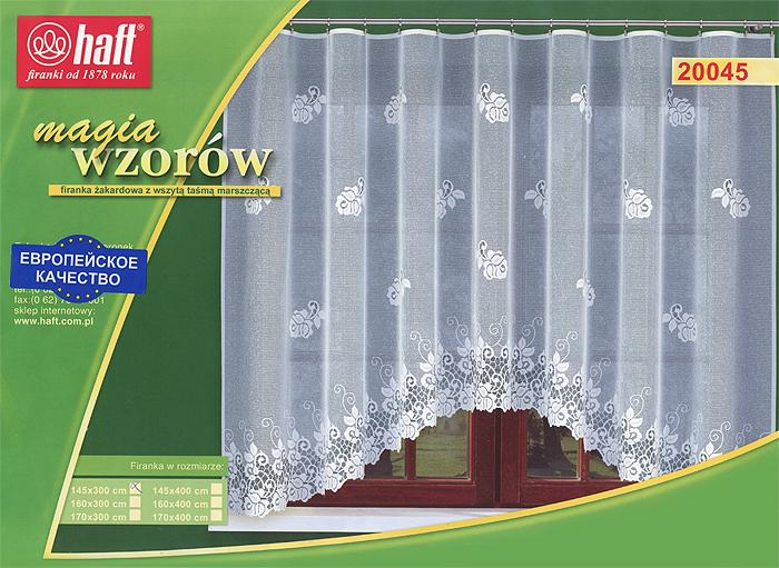 Гардина Haft, на ленте, цвет: белый, высота 145 см. 519898519898Воздушная гардина Haft, изготовленная из полиэстера белого цвета, станет великолепным украшением любого окна. Оригинальный цветочный рисунок и нежный орнамент привлечет к себе внимание и органично впишется в интерьер комнаты. В гардину вшита шторная лента. Характеристики: Материал: 100% полиэстер. Размер упаковки: 37 см х 28 см х 3 см. Цвет: белый. Артикул: 519898. В комплект входит: Гардина - 1 шт. Размер (Ш х В): 300 см х 145 см. Текстильная компания Haft имеет богатую историю. Основанная в 1878 году в Польше, эта фирма зарекомендовала себя в качестве одного из лидеров текстильной промышленности в Европе. Еще в начале XX века фабрика Haft производила 90% всех текстильных изделий в своей стране, с годами производство расширялось, накопленный опыт позволял наиболее выгодно использовать развивающиеся технологии. Главный ассортимент компании - это тюль и занавески. Haft предлагает готовые решения для ваших окон, выпуская...