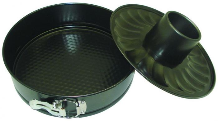 Форма для запекания Regent Inox Easy, круглая, разъёмная, 2 дна, 26 см х 26 см х 7 см93-CS-EA-5-09Круглая форма для выпечки Regent Inox Easy выполнена из высококачественной углеродистой стали и снабжена антипригарным керамическим покрытием, что обеспечивает форме прочность и долговечность. Имеется разъёмный механизм. В комплект также входит второе дно с выемкой для приготовления кекса. Форма равномерно и быстро прогревается, что способствует лучшему пропеканию пищи. Данную форму легко чистить. Готовая выпечка без труда извлекается из формы. Форма подходит для использования в духовке с максимальной температурой 250°С. Перед каждым использованием форму необходимо смазать небольшим количеством масла. Чтобы избежать повреждений антипригарного покрытия, не используйте металлические или острые кухонные принадлежности. Можно мыть в посудомоечной машине.