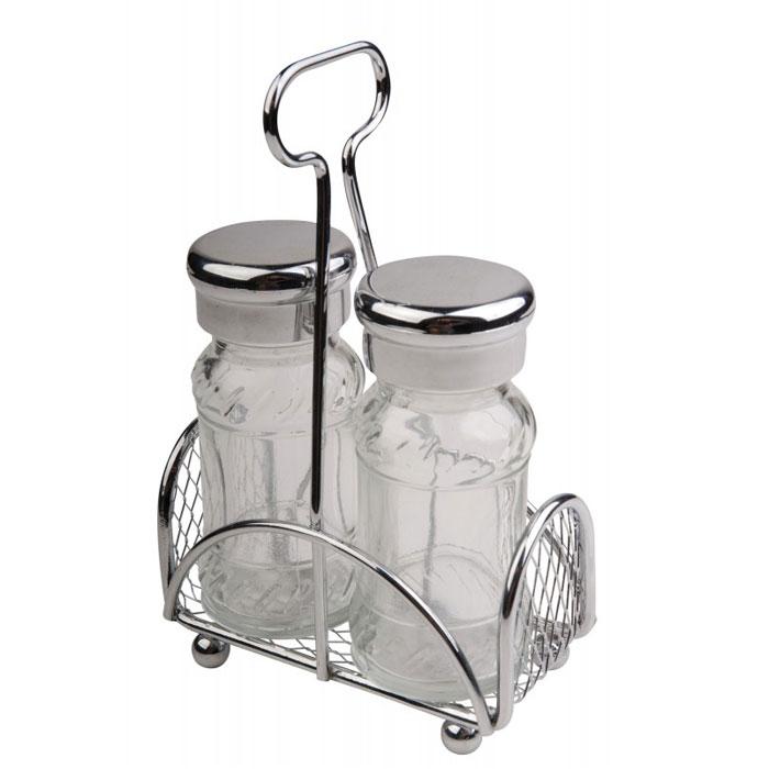 Набор для специй Aroma: солонка и перечница. 93-DE-AR-1593-DE-AR-15Набор Linea Aroma состоит из солонки и перечницы на оригинальной подставке. Предметы набора изготовлены из металла, стекла и пластика. Солонка и перечница легки в использовании: стоит только перевернуть емкости, и вы с легкостью сможете поперчить или добавить соль по вкусу в любое блюдо. Можно мыть в посудомоечной машине. Надежная точечная спайка металлических частей обеспечивает прочность и долговечность изделий. Оригинальный дизайн, эстетичность и функциональность набора позволят ему стать достойным дополнением к кухонному инвентарю. Характеристики: Материал: пластик, металл, стекло. Высота емкости: 9 см. Диаметр основания: 4 см. Размер подставки: 10 см х 4,5 см х 14,5 см Размер упаковки: 11 см х 10,5 см х 6 см. Артикул: 93-DE-AR-15.