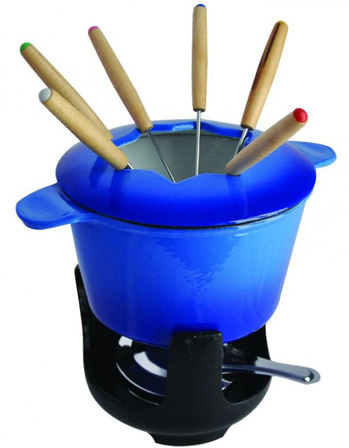 "Regent Inox Набор для фондю ""Ferro Smalto"", цвет: синий, 10 предметов"
