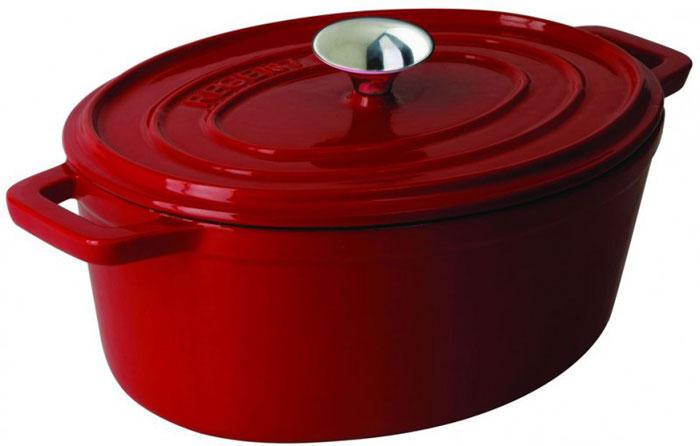 Жаровня Regent Inox Ferro Smalta, цвет: красный, 5,8 л. Диаметр 24 см93-FEs-8-31Жаровня красного цвета Regent Inox Ferro Smalto изготовлена из чугуна, прокаленного в пищевом жире, благодаря чему повышаются антипригарные свойства изделия. Чугун - это долговечный, натуральный, экологически чистый, прочный и устойчивый к деформации материала. Чугун не боится перекаливания при нагреве, обладает высокой теплоемкостью. В такой посуде можно жарить, тушить, запекать, варить, но особенно вкусно получаются блюда, которые нужно потомить, например, плов. Внешнее и внутренне покрытие - высококачественная глянцевая эмаль. Отвечает всем санитарно-гигиеническим нормам. Позволяет хранить пищу в посуде, в том числе в холодильнике. Жаровня оснащена крышкой и удобными ручками. Можно готовить в печи или духовке, при этом обязательно используя прихватки. Подходит для всех типов плит, включая индукционные. Можно мыть в посудомоечной машине.