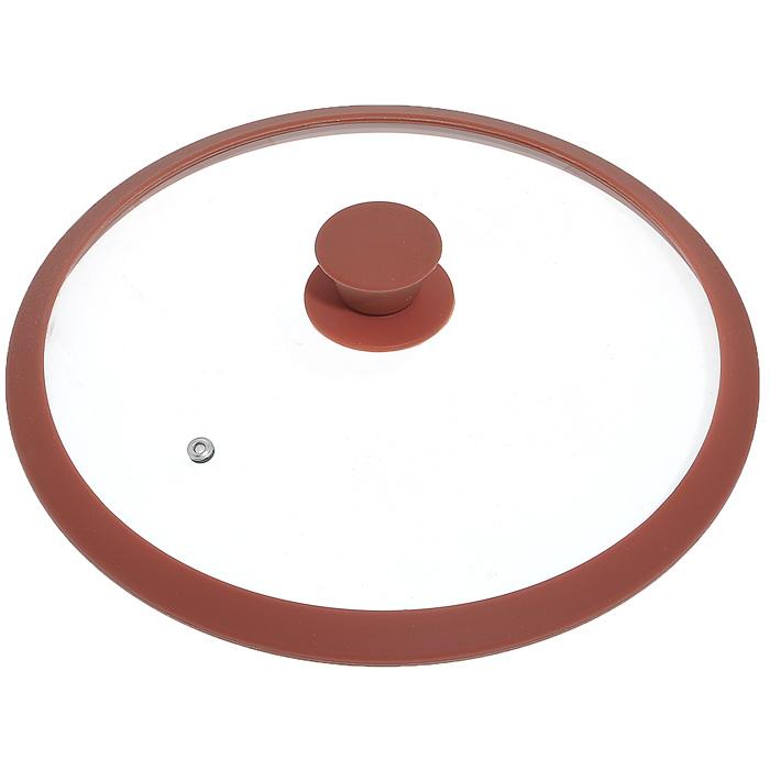 Крышка стеклянная Winner, цвет: коричневый. Диаметр 30 смWR-8307Крышка Winner изготовлена из термостойкого стекла с ободом из силикона. Крышка оснащена отверстием для выпуска пара. Ручка, выполненная из термостойкого бакелита с силиконовым покрытием, защищает ваши руки от высоких температур. Крышка удобна в использовании и позволяет контролировать процесс приготовления пищи. Характеристики: Материал: стекло, силикон, бакелит. Диаметр: 30 см. Изготовитель: Германия. Производитель: Китай.