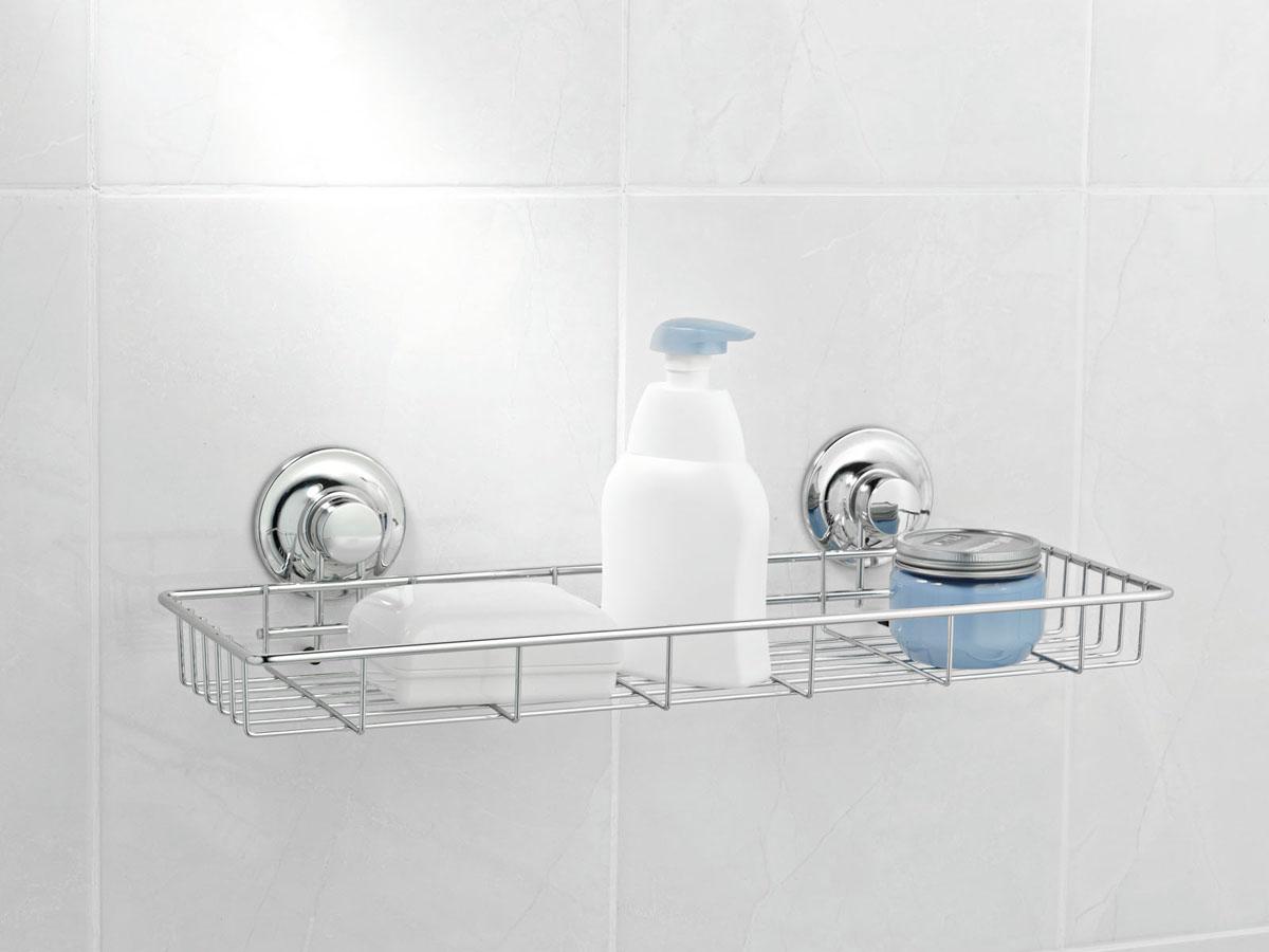 Полка для ванной Tatkraft Swiss Line, одноярусная, 45 см х 17 см х 7 см10206-TKПолка Tatkraft Swiss Line просто создана для современной ванной комнаты. Стильная, легкая, она позволит вам сэкономить место и уместить гораздо больше вещей, чем вы можете предположить. Полка препится при помощи 2-х присосок.