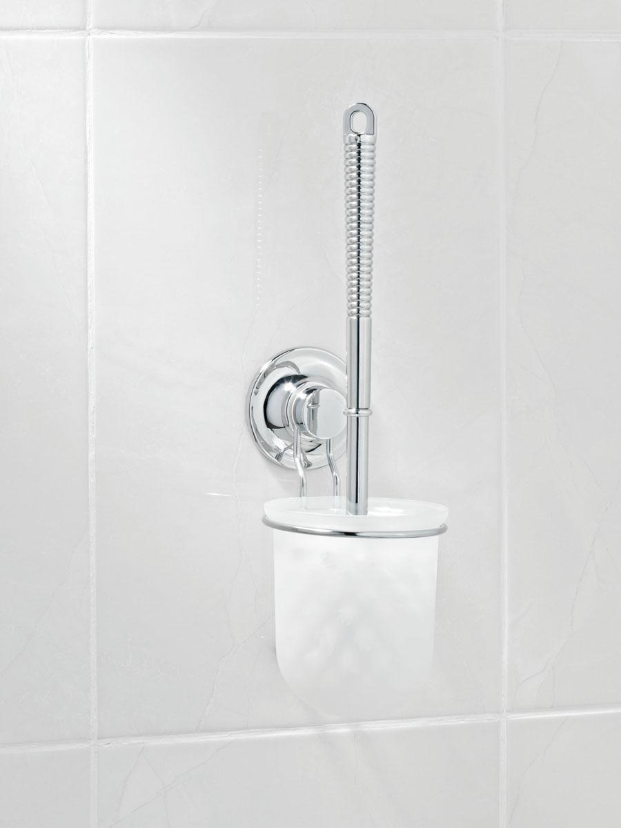 Гарнитур для туалета настенный Tatkraft Swiss Line10208-TKГарнитур для туалета настенный Tatkraft Swiss Line используется для чистки туалетов. Крепится на стену без сверления и дыр в стенах благодаря вакуумной присоске. Характеристики: Материал: пластик, металл. Длина ручки: 23 см. Размеры подставки: 10 х 10 х 11 см. Диаметр присоски: 7,2 см. Размеры гарнитура: 33 см х 7 см х 7 см. Размер упаковки: 10,5 см х 12,5 см х 17,5 см.