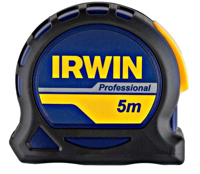Рулетка Irwin Professional, 5 м х 19 мм10507791Рулетка Irwin Professional является прочным и надежным в работе ручным измерительным инструментом. Эргономичный корпус Pro Touch обеспечивает защиту сматывающего механизма при случайных падениях. Лента имеет увеличенную толщину для повышенной жесткости и 2 заклепки, которые продлят срок службы рулетки. Нейлоновое покрытие полотна снижает риск преждевременного истирания шкалы. Разметка с двух сторон превосходно подходит для разметки над головой и по вертикали. Наличие фиксатора облегчает процесс замера - ленту можно зафиксировать на любой необходимой длине. Лента имеет магнитное окончание, которое способствует удобству во время работы. Для более удобной транспортировки на корпусе предусмотрен зажим для крепления инструмента к поясу. Упругость ленты: 1,8 м. Ширина ленты: 1,9 см.