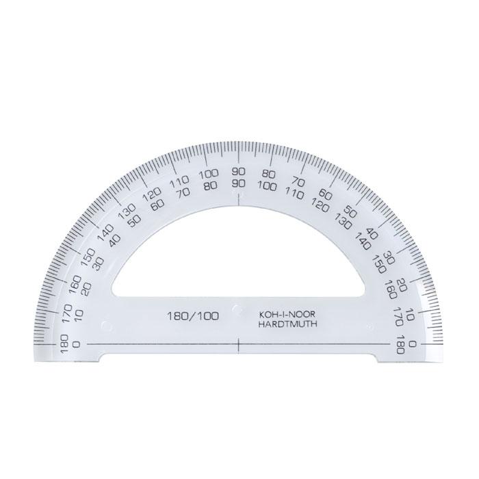 Транспортир Koh-i-Noor, 180 градусов746168Транспортир Silwerhof выполнен из высококачественного прозрачного пластика с ровной четкой шкалой делений и применяется для измерения углов от 0 до 180 градусов. Характеристики: Угол транспортира: 180 градусов. Размер транспортира: 20 см х 5 см.