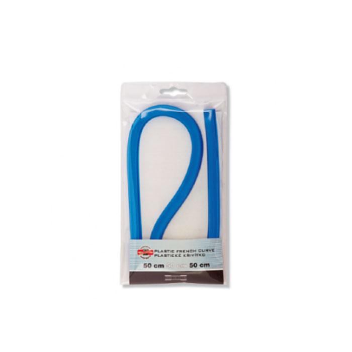 Лекало гибкое Koh-I-Noor, 50 см0717028Лекало Koh-I-Noor, выполненное из гибкого пластика синего цвета, позволит вам относительно точно строить участки таких кривых, как эллипс, парабола, гипербола, различные спирали.