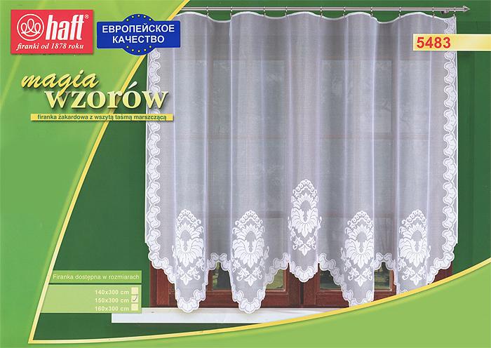 Гардина Haft, на ленте, цвет: белый, высота 150 см. 489733489733Воздушная гардина Haft, изготовленная из полиэстера белого цвета, станет великолепным украшением любого окна. Оригинальный нежный орнамент привлечет к себе внимание и органично впишется в интерьер комнаты. В гардину вшита шторная лента. Характеристики: Материал: 100% полиэстер. Размер упаковки: 37 см х 28 см х 3 см. Цвет: белый. Артикул: 489733. В комплект входит: Гардина - 1 шт. Размер (Ш х В): 300 см х 150 см. Текстильная компания Haft имеет богатую историю. Основанная в 1878 году в Польше, эта фирма зарекомендовала себя в качестве одного из лидеров текстильной промышленности в Европе. Еще в начале XX века фабрика Haft производила 90% всех текстильных изделий в своей стране, с годами производство расширялось, накопленный опыт позволял наиболее выгодно использовать развивающиеся технологии. Главный ассортимент компании - это тюль и занавески. Haft предлагает готовые решения для ваших окон, выпуская готовые наборы штор,...