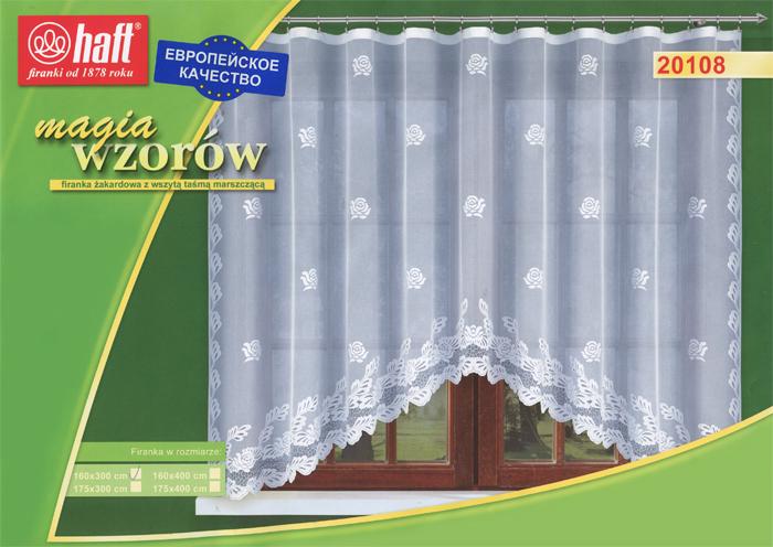 Гардина Haft, на ленте, цвет: белый, высота 160 см. 517658517658Воздушная гардина Haft, изготовленная из полиэстера белого цвета, станет великолепным украшением любого окна. Оригинальный принт в виде нежного цветочного рисунка привлечет к себе внимание и органично впишется в интерьер комнаты. В гардину вшита шторная лента. Характеристики: Материал: 100% полиэстер. Размер упаковки: 37 см х 28 см х 3 см. Цвет: белый. Артикул: 517658. В комплект входит: Гардина - 1 шт. Размер (Ш х В): 300 см х 160 см. Текстильная компания Haft имеет богатую историю. Основанная в 1878 году в Польше, эта фирма зарекомендовала себя в качестве одного из лидеров текстильной промышленности в Европе. Еще в начале XX века фабрика Haft производила 90% всех текстильных изделий в своей стране, с годами производство расширялось, накопленный опыт позволял наиболее выгодно использовать развивающиеся технологии. Главный ассортимент компании - это тюль и занавески. Haft предлагает готовые решения для ваших окон,...
