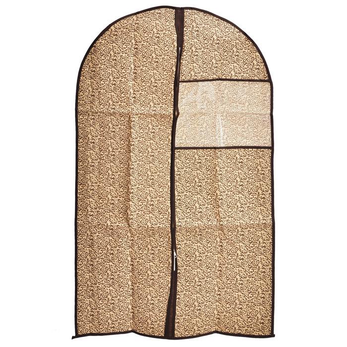 Чехол для одежды Loks, с квадратным окошком, 60 см х 137 см. L1010L1010Чехол для одежды Loks изготовлен из высококачественного нетканого материала - спанбонда и оформлен оригинальным рисунком. Особое строение полотна создает естественную вентиляцию: материал дышит и позволяет воздуху свободно проникать внутрь чехла, не пропуская пыль. Благодаря форме чехла, одежда не мнется даже при длительном хранении. Застегивается на молнию. Квадратное окошко из пластика позволяет увидеть, какие вещи находятся внутри. Чехол для одежды будет очень полезен при транспортировке вещей на близкие и дальние расстояния, при длительном хранении сезонной одежды, а также при ежедневном хранении вещей из деликатных тканей. Чехол для одежды Loks не только защитит ваши вещи от пыли и влаги, но и поможет доставить одежду на любое мероприятие в идеальном состоянии.