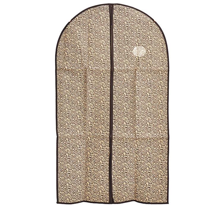 """Чехол для одежды """"Loks"""", с круглым окошком, 60 х 137 см L1007"""
