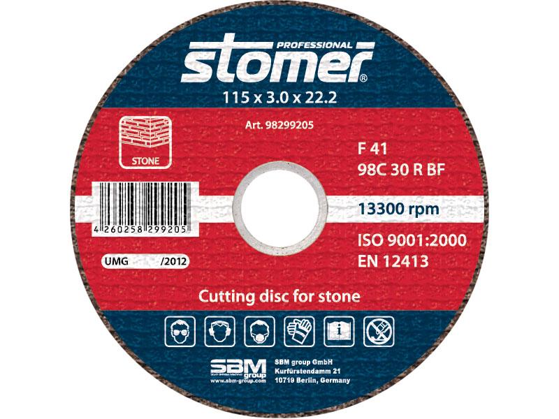 Диск отрезной Stomer, 115 мм, CS-115. 98299205