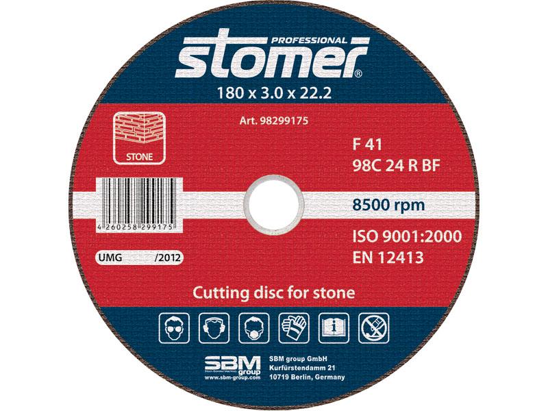 Диск отрезной Stomer, 180 мм, CS-180. 98299175