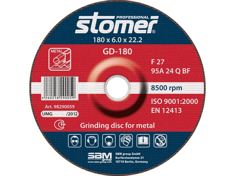 Диск шлифовальный Stomer, 180 мм, GD-180. 98290059