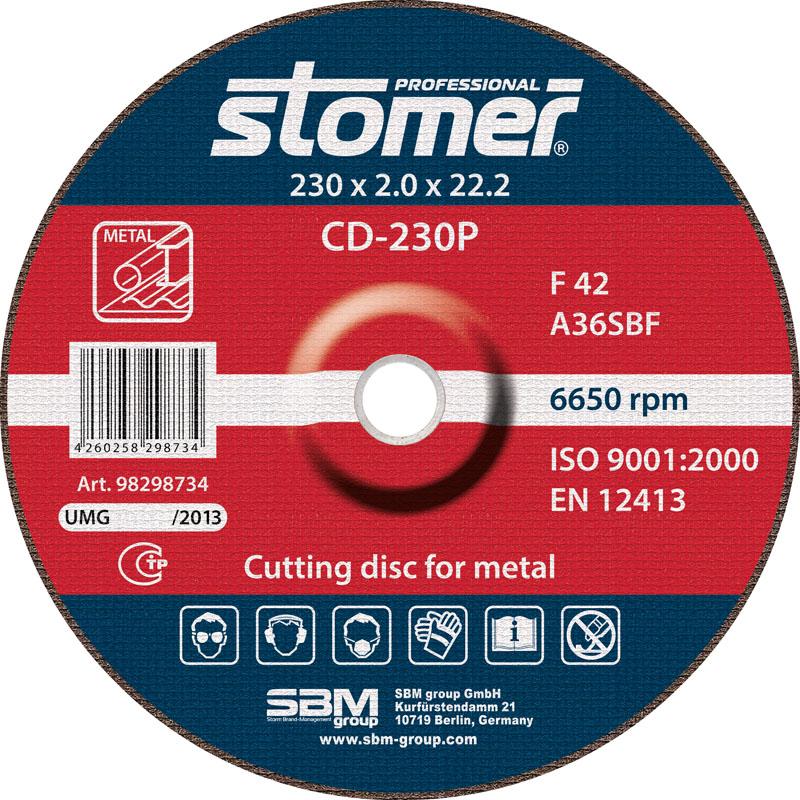 Диск отрезной Stomer, 230 мм, CD-230P. 98298734