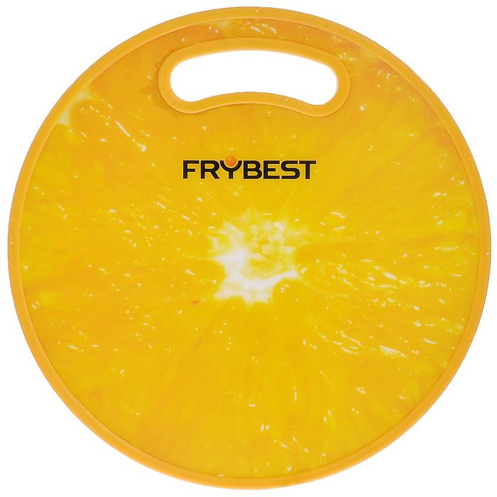 """Доска разделочная Frybest """"Апельсин"""" бамбуковая, диаметр 30 см"""