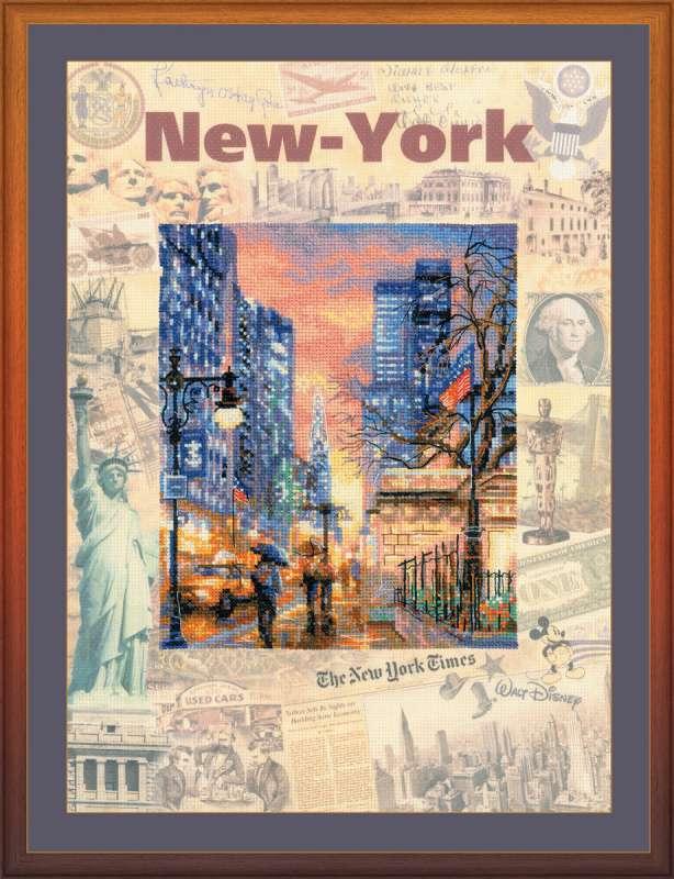 Набор для вышивания крестом Города мира. Нью-Йорк, 30 х 40 см0025 РТВ наборе для вышивания крестом Города мира. Нью-Йорк есть все необходимое для создания собственного чуда: канва, цветная схема, нитки мулине и игла. Красивый рисунок-вышивка с изображением улицы Нью-Йорка будет оригинально и стильно смотреться в интерьере вашего помещения. Вышивание крестиком отвлечет вас от повседневных забот и превратится в увлекательное занятие! Работа, сделанная своими руками, создаст особый уют и атмосферу в доме и долгие годы будет радовать вас и ваших близких.