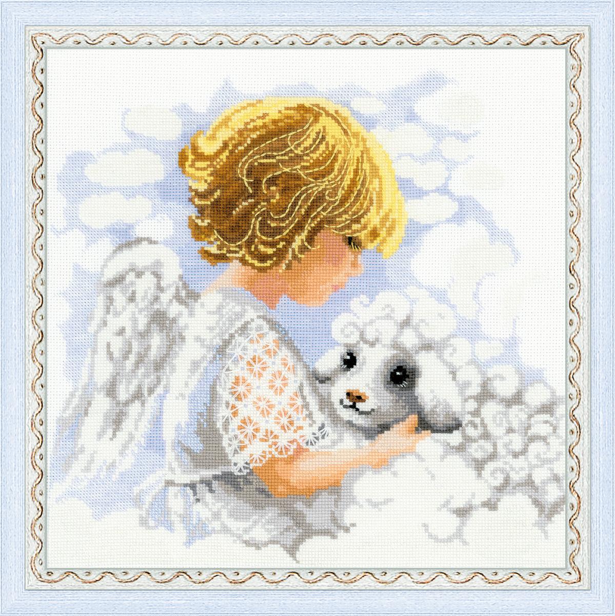 Набор для вышивания крестом День ангела, 30 х 30 см1360В наборе для вышивания крестом День ангела есть все необходимое для создания собственного чуда: канва, цветная схема, шерстяные нитки и игла. Красивый рисунок-вышивка с изображением ангела будет оригинально и стильно смотреться в интерьере вашего помещения. Вышивание крестиком отвлечет вас от повседневных забот и превратится в увлекательное занятие! Работа, сделанная своими руками, создаст особый уют и атмосферу в доме и долгие годы будет радовать вас и ваших близких.