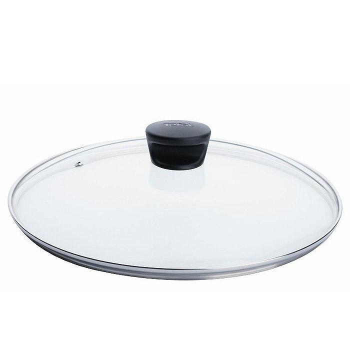 Крышка стеклянная Tefal. Диаметр 30 см040 90 130Крышка Tefal изготовлена из термостойкого стекла. Обод, выполненный из высококачественной нержавеющей стали, защищает крышку от повреждений, а ручка, выполненная из термостойкого пластика, защищает ваши руки от высоких температур. Крышка удобна в использовании, позволяет контролировать процесс приготовления пищи. Имеется отверстие для выпуска пара.