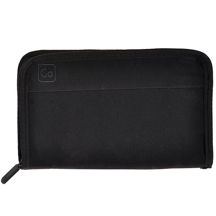 Кошелек Travel Wallet, цвет: черный. 314 DG314 DGДорожный кошелек Travel Wallet предназначен для хранения документов и кредитных карт во время поездок, оснащен замком-молнией. Кошелек выполнен из полиэстера черного цвета. Имеет два кармашка для документов и семь накладных карманов для кредитных карт. На задней стороне имеется карман на липучке. Оснащен фиксатором для крепления на пояс. Идеален для тех, кто часто путешествует: легкий и приятный на ощупь материал и компактные размеры позволяют надежно сохранить ваши документы, не занимая много места и не доставляя дискомфорта. Характеристики Материал: полиэстер. Цвет: черный. Размер кошелька: 23 см х 13,5 см х 1,5 см. Размер упаковки: 23 см х 19 см х 3 см. Изготовитель:Китай. Артикул: 314 DG.