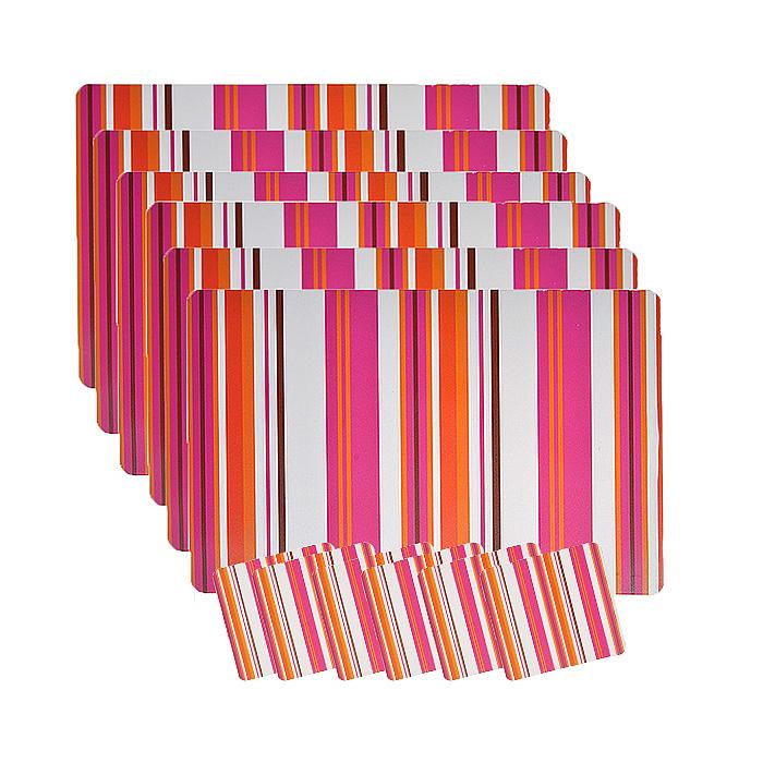 Набор термосалфеток для сервировки стола Loks, 12 штук. P300-201P300-201 - розовыйВашему вниманию предлагается набор термосалфеток для сервировки стола Loks. Салфетка представляет собой настольное покрытие, оформленное рисунком в полоску. В наборе 6 салфеток размером 28 см х 43 см и 6 салфеток размером 10 см х 10 см. Предназначен для ежедневной сервировки стола. Изделия обладают высокой износоустойчивостью и предназначены для многократного использования. Салфетки предохраняют поверхность стола от царапин. Легко моются в тёплой воде с мягкими чистящими средствами. Салфетка послужит не только украшением стола, но и защитит его от горячей посуды. Термосалфетка на стол - это оригинальный подарок для создания правильного настроя за едой.