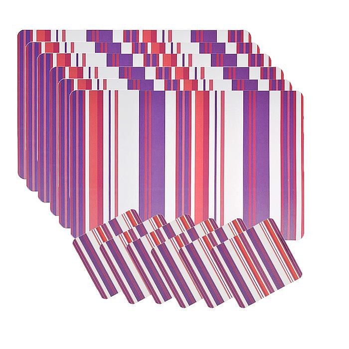 Набор термосалфеток для сервировки стола Loks, цвет: фиолетовый, 12 штук. P300-201P300-201 - фиолетовыйВашему вниманию предлагается набор термосалфеток для сервировки стола Loks. Салфетка представляет собой настольное покрытие, оформленное рисунком в полоску. В наборе 6 салфеток размером 28 см х 43 см и 6 салфеток размером 10 см х 10 см. Предназначен для ежедневной сервировки стола. Изделия обладают высокой износоустойчивостью и предназначены для многократного использования. Салфетки предохраняют поверхность стола от царапин. Легко моются в тёплой воде с мягкими чистящими средствами. Салфетка послужит не только украшением стола, но и защитит его от горячей посуды. Термосалфетка на стол - это оригинальный подарок для создания правильного настроя за едой. Характеристики: Материал: пищевой пластик. Размер термосалфетки (прямоугольной): 43 см х 28 см. Размер термосалфетки (квадратной): 10 см х 10 см. Изготовитель: Китай. Артикул: P300-201.