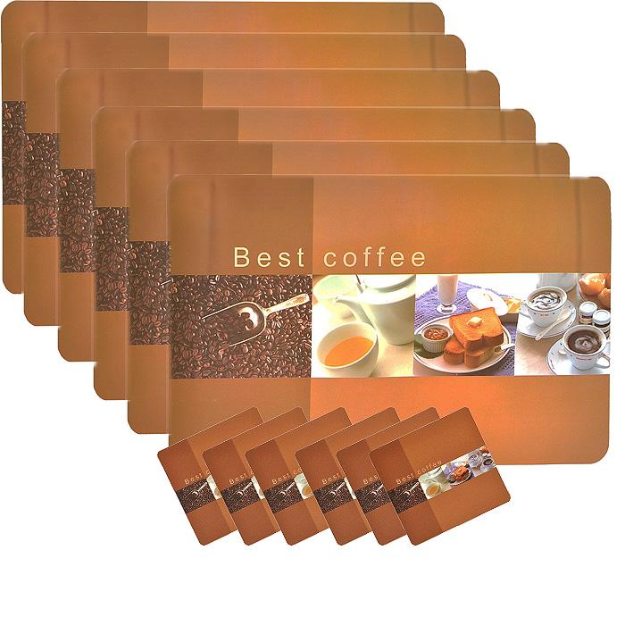 Набор термосалфеток для сервировки стола Loks, 12 штук. P300-301P300-301Вашему вниманию предлагается набор термосалфеток для сервировки стола Loks. Салфетка представляет собой настольное покрытие с изображением чашек с кофе и отдельно лежащих зерен. В наборе 6 салфеток размером 27,5 см х 42 см и 6 салфеток размером 9,5 см х 9,5 см. Предназначен для ежедневной сервировки стола. Изделия обладают высокой износоустойчивостью и предназначены для многократного использования. Салфетки предохраняют поверхность стола от царапин. Легко моются в тёплой воде с мягкими чистящими средствами. Салфетка послужит не только украшением стола, но и защитит его от горячей посуды. Термосалфетка на стол - это оригинальный подарок для создания правильного настроя за едой.