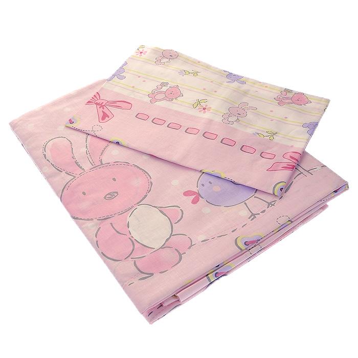 Постельное белье Акварель (детский КПБ, бязь, наволочка 60 см х 40 см), цвет: розовый306/2Детское постельное белье Акварель выполнено из натурального хлопка и состоит из пододеяльника, наволочки и простыни. Комплект выполнен в яркой, но не агрессивной, цветовой гамме, украшен красочными рисунками, что, несомненно, понравится малышу, и сделает его сон спокойным и приятным. Натуральный хлопок является гипоаллергенным природным материалом, нежно оберегающим кожу ребенка. Хлопок - это дар солнца, мягчайшее и нежнейшее произведение природы, сохраняющее тепло в холода и приносящее прохладу в жару. Хлопок обладает антибактериальными свойствами. Хлопок является единственным допустимым волокном при производстве детских постельных принадлежностей.