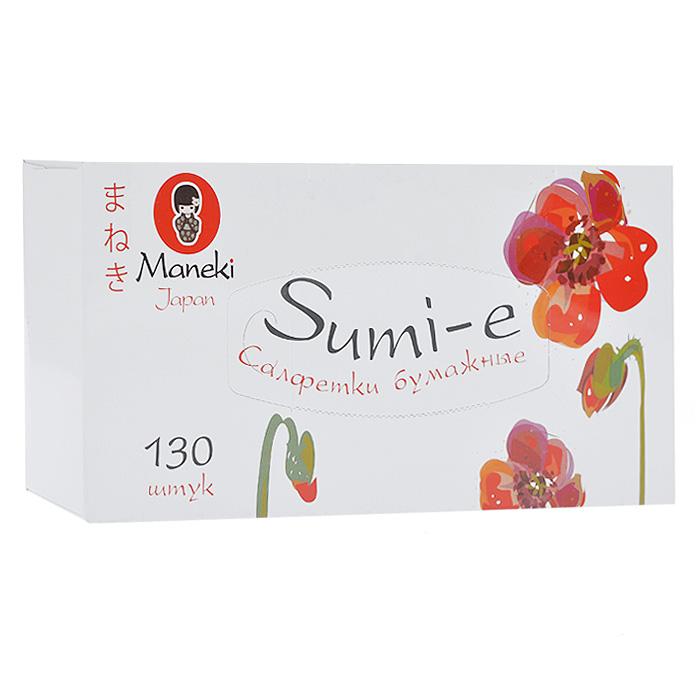 Салфетки бумажные Maneki Sumi-e, двухслойные, цвет: белый, 130 штFT142Двухслойные бумажные салфетки Maneki Sumi-e, выполненные из натуральной экологически чистой целлюлозы, подарят превосходный комфорт и ощущение чистоты и свежести. Необычайно мягкие салфетки с микротиснением не вызывают раздражения, хорошо впитывают влагу и не оставляют бумажной пыли на поверхности. Салфетки подходят для косметических целей. Салфетки хранятся в специальной картонной коробке с отверстиями для удобного извлечения. Характеристики: Материал: 100% целлюлоза. Количество салфеток: 130 шт. Количество слоев: 2. Количество листов: 260. Размер листа: 21 см х 19,6 м. Размер упаковки: 24 см х 11,5 см х 5 см. Артикул: FT142.