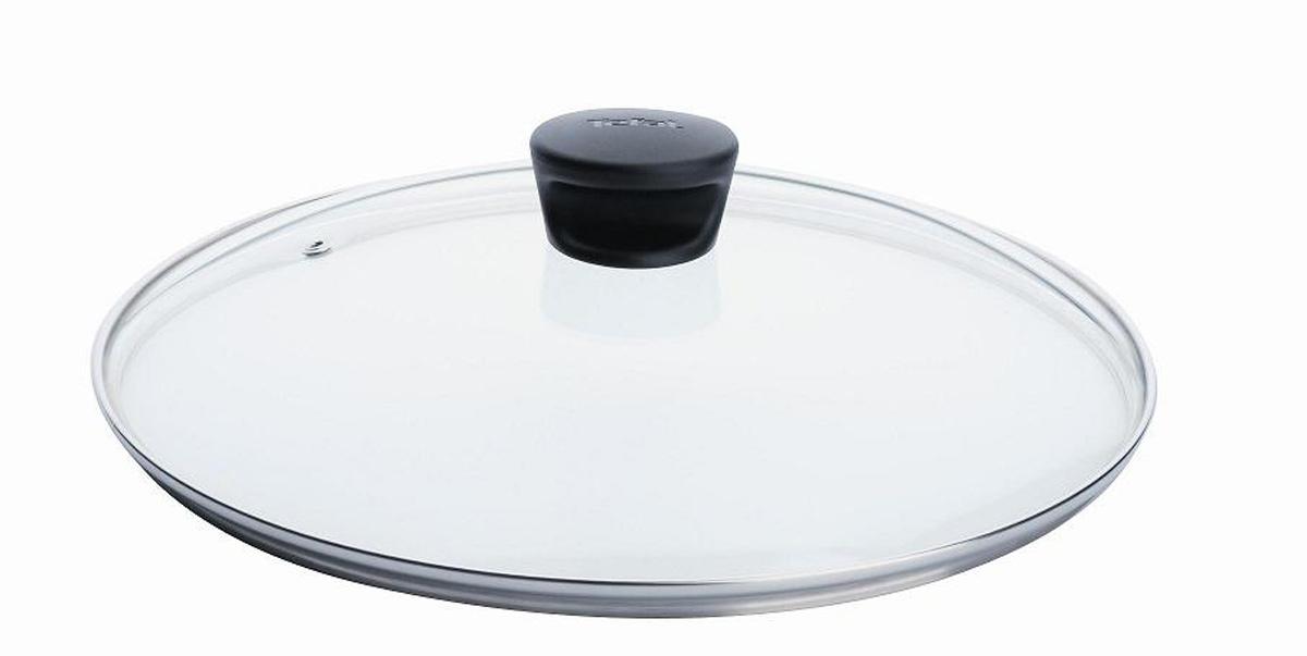 Крышка стеклянная Tefal. Диаметр 22 см040 90 122Крышка Tefal изготовлена из термостойкого стекла. Обод, выполненный из высококачественной нержавеющей стали, защищает крышку от повреждений, а ручка, выполненная из термостойкого пластика, защищает ваши руки от высоких температур. Крышка удобна в использовании, позволяет контролировать процесс приготовления пищи. Имеется отверстие для выпуска пара. Крышка подходит для сковород и сотейников всех серий марки Tefal. Можно мыть в посудомоечной машине. Характеристики: Материал: стекло, нержавеющая сталь, пластик. Диаметр: 22 см. Артикул: 040 90 122.