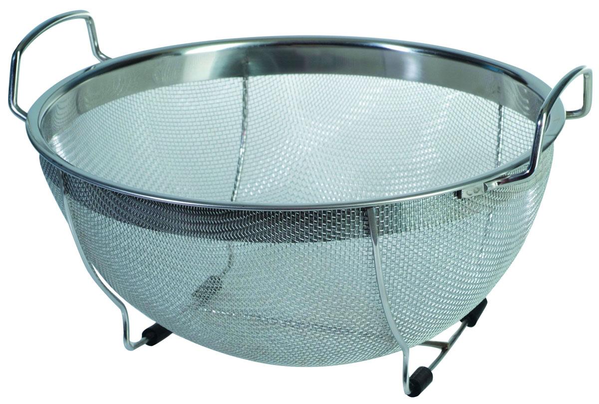 Дуршлаг-сито с ручками Regent Inox Pronto. Диаметр 33 см - Regent Inox - Regent Inox93-PRO-12-33Дуршлаг-сито Regent Inox Pronto, выполненный из высококачественной нержавеющей стали, станет незаменимым аксессуаром на вашей кухне. Дуршлаг-сито оснащен двумя эргономичными ручками и удобной подставкой на дне, придающей устойчивость. Прочная стальная сетка и корпус обеспечивают изделию износостойкость и долговечность. Такой дуршлаг-сито станет достойным дополнением к кухонному инвентарю.