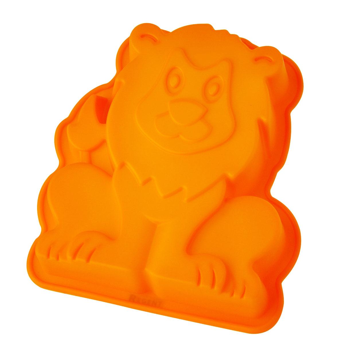 Форма для выпечки и заморозки Regent Inox Царь зверей, силиконовая. цвет: оранжевый, 20 х 17 см93-SI-FO-77Форма для выпечки и заморозки Царь зверей выполнена из силикона и предназначена для изготовления выпечки, конфет, мармелада, желе, льда и даже мыла. С помощью формы в виде забавного львёнка любой день можно превратить в праздник и порадовать детей. Силиконовые формы выдерживают высокие и низкие температуры (от -40°С до +230°С). Они эластичны, износостойки, легко моются, не горят и не тлеют, не впитывают запахи, не оставляют пятен. Силикон абсолютно безвреден для здоровья. Не используйте моющие средства, содержащие абразивы. Можно мыть в посудомоечной машине. Подходит для использования во всех типах печей.