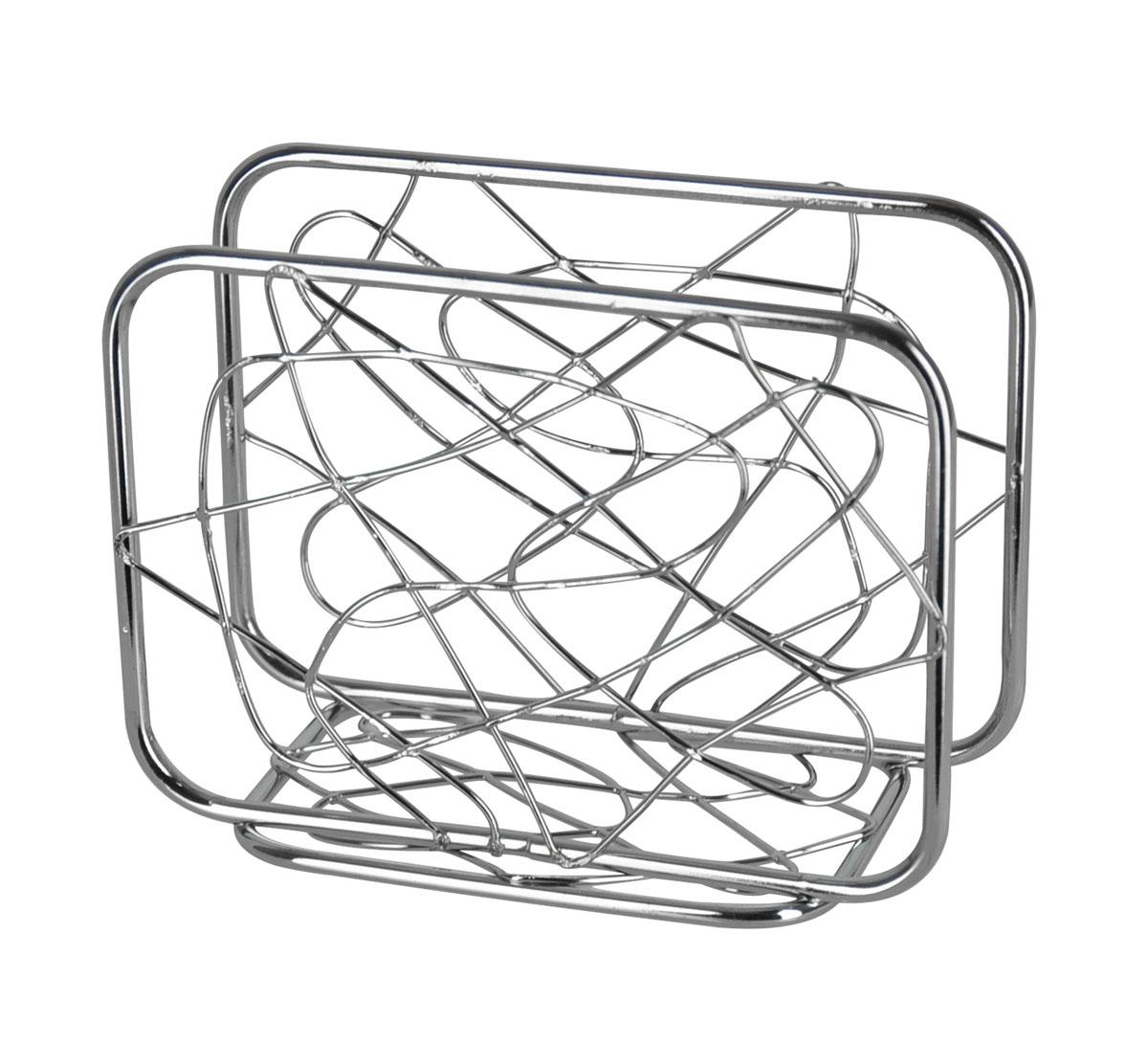 Салфетница Trina. 93-TR-02-0693-TR-02-06Салфетница Trina - это целое произведение искусства выполненное из прутка. Замысловатые завитки позволяют выглядеть салфетнице очень стильно и воздушно. Приобретите этот предмет сервироки и увидите, как приобразиться Ваш стол. Характеристики: Материал: хромированная сталь. Размер: 12 см х 9 см х 6 см. Размер упаковки: 12,5 см х 9,5 см х 6,5 см. Производитель: Италия. Артикул: 93-TR-02-06.