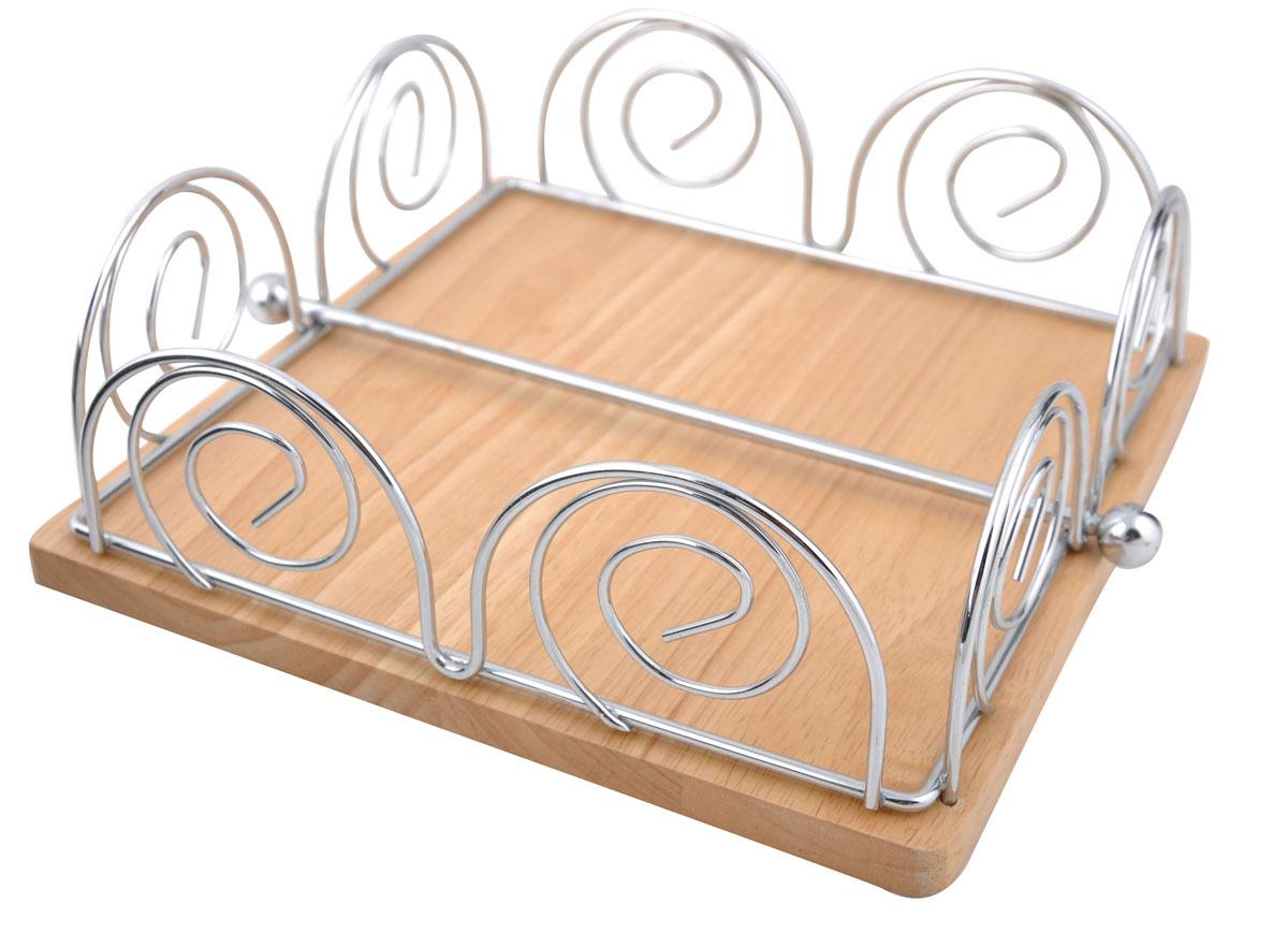 Салфетница Trina. 93-TR-03-0293-TR-03-02Современный дизайн салфетницы Linea Trina изготовленной из металла и дерева, идеально впишется в интерьер современной кухни. Это целое произведение искусства выполненное из прутка. Замысловатые завитки позволяют выглядеть салфетнице очень стильно и воздушно. Пробретите этот предмет сервироки и увидите, как преобразится Ваш стол. Характеристики: Материал: хромированная сталь, дерево. Размер: 20,5 см х 20,5 см х 7 см. Размер упаковки: 21 см х 21 см х 7,5 см. Производитель: Италия. Артикул: 93-TR-03-02.