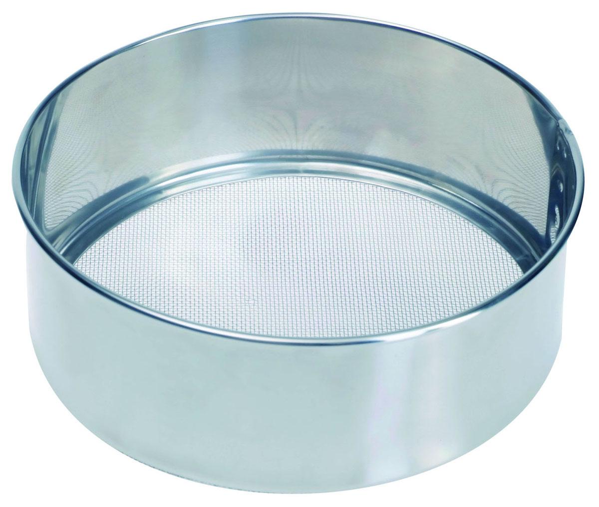Сито Pronto. Диаметр 16 см93-PRO-32-16Сито Linea Pronto, выполненное из высококачественной нержавеющей стали, станет незаменимым аксессуаром на вашей кухне. Оно предназначено для просеивания муки и процеживания. Прочная стальная сетка и корпус обеспечивают изделию износостойкость и долговечность. Такое сито станет достойным дополнением к кухонному инвентарю. Характеристики: Материал: нержавеющая сталь. Диаметр: 16 см. Высота стенок: 5 см. Артикул: 93-PRO-32-16.