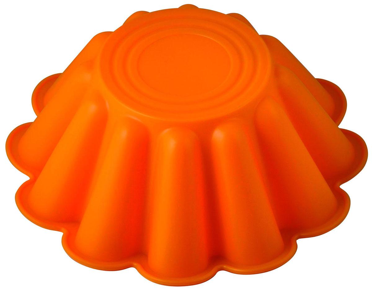 Форма для выпечки и заморозки Каравай, силиконовая, цвет: оранжевый93-SI-FO-54Фигурная форма для выпечки Каравай будет отличным выбором для всех любителей бисквитов и кексов. Благодаря тому, что форма изготовлена из силикона, готовый лед, выпечку или мармелад вынимать легко и просто. С такой формой вы всегда сможете порадовать своих близких оригинальной выпечкой. Материал устойчив к фруктовым кислотам, может быть использован в духовках, микроволновых печах и морозильных камерах (выдерживает температуру от 240°C до - 50°C). Можно мыть и сушить в посудомоечной машине.