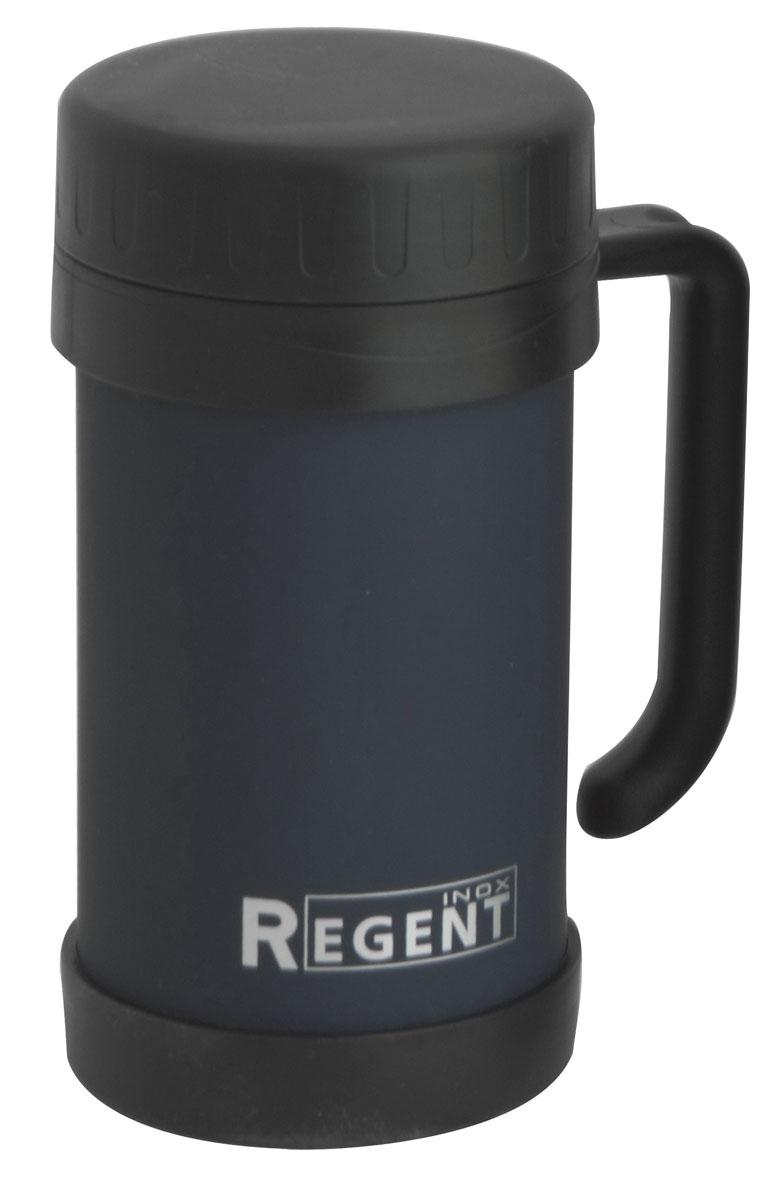 Кружка-термос Regent Inox Gotto, цвет: синий, 0,5 л93-TE-GO-2-500Кружка-термос Regent Inox Gotto удобна для использования в быту, походе и путешествиях. Прекрасно сохраняет температуру напитка. Универсальна, для горячих и холодных напитков. Защищает руки от ожогов, внешняя стенка не нагревается. Компактна, удобна в использовании. Полированная поверхность легко моется. Надежна и долговечна. Экологически безопасна.