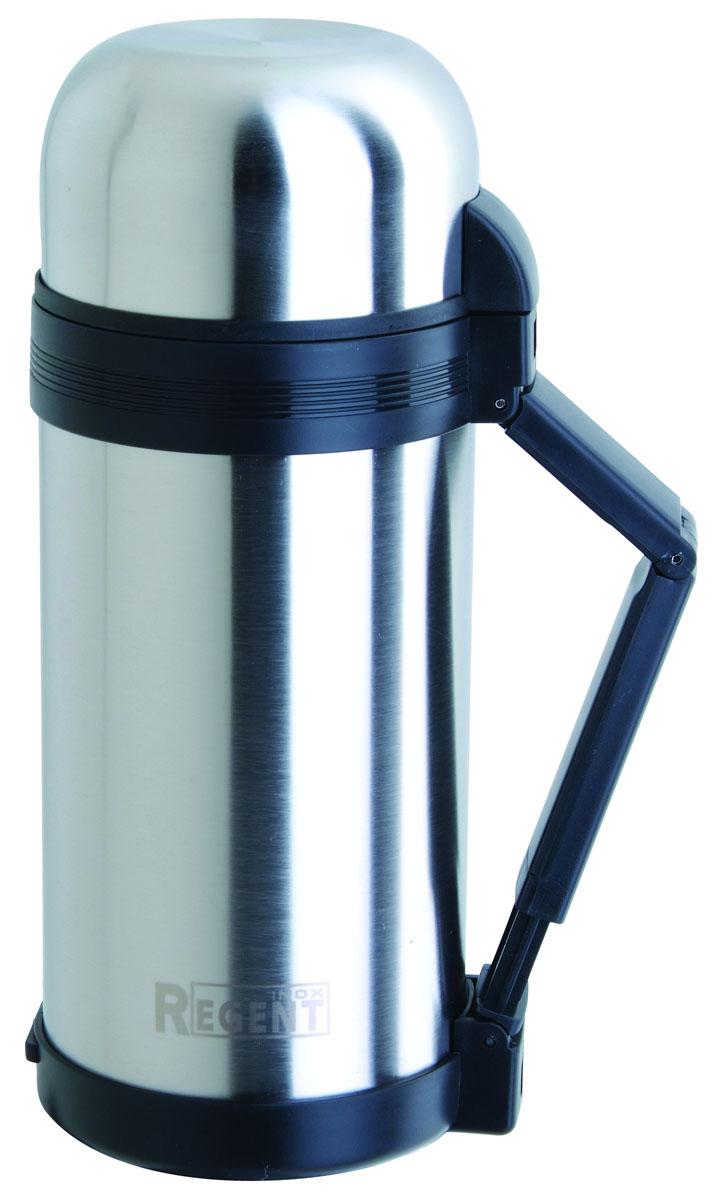 Термос Regent Inox, 1,5 л. 93-TE-U-1-150093-TE-U-1-1500Термос Regent Inox изготовлен из высококачественной пищевой нержавеющей стали с современной технологией теплоизолляции. Высокая надёжность и долговечность. Имеется глубокий вакуум и двойная металлическая колба, способствующая более длительному сохранению тепла. Термос удобен в использовании дома, на даче, в турпоходе и на рыбалке. Пригодится на работе, в офисе и командировке, экономит электроэнергию и время. Удобная ручка-ремень сделает переливание жидкостей более комфортным.
