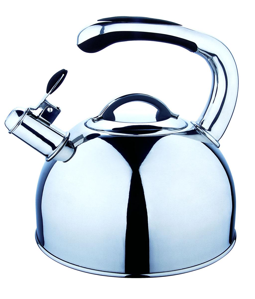 Чайник Regent Inox Tea со свистком, 2,5 л. 93-TEA-0293-TEA-02Чайник Regent Inox Tea выполнен из высококачественной нержавеющей стали 18/10 с зеркальной полировкой. Основные особенности: - оптимальное соотношение толщины дна и стенок посуды, что обеспечивает равномерное распределение тепла, экономию энергозатрат и устойчивость к деформации, - сохранение в воде всех полезных свойств и микроэлементов, - многослойное капсулированное дно: аккумулирует тепло, способствует быстрому закипанию и приготовлению пищи даже при небольшой мощности конфорок, - функционален, гигиеничен, эргономичен, а благодаря оригинальному дизайну чайник станет украшением любой кухни. Чайник оснащен крышкой и удобной ручкой с бакелитовыми вставками черного цвета. Откидной свисток на носике чайника всегда подскажет, когда вода закипела. Подходит для всех типов плит, включая индукционные. Можно мыть в посудомоечной машине.