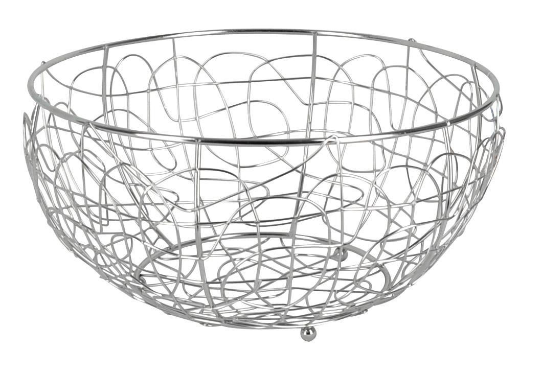 Фруктовница Trina, круглая. 93-TR-01-0293-TR-01-02Современный дизайн фруктовницы Trina, изготовленной из хромированной стали, идеально впишется в интерьер современной кухни. Выполнена в виде чаши, стенки которой состоят из узоров из металлических прутков. Фруктовница имеет ножки с металлическими шариками - для устойчивости. Характеристики: Материал: хромированная сталь. Размер: 29 см х 29 см х 15 см. Размер упаковки: 29 см х 29 см х 15 см. Производитель: Италия. Артикул: 93-TR-01-02.
