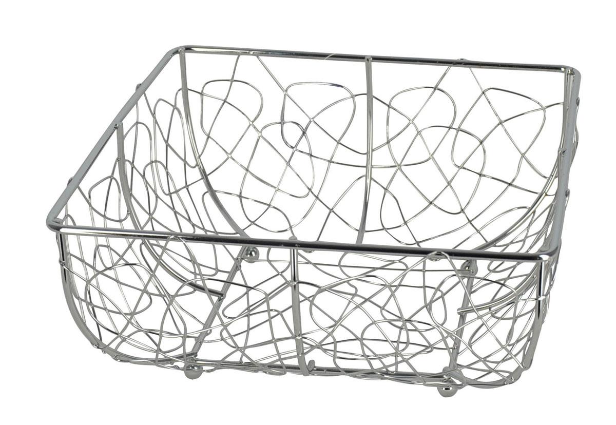 Фруктовница Trina, квадратная. 93-TR-01-0493-TR-01-04Современный дизайн фруктовницы, изготовленной из металла, идеально впишется в интерьер современной кухни. Фруктовница квадратной формы представляет собой узор из стальных прутьев, скрепленных между собой. На нижней части фруктовницы есть четыре металлических шарика - для устойчивости. Характеристики: Материал: хромированная сталь. Размер: 24 см х 24 см х 11 см. Размер упаковки: 24,5 см х 24,5 см х 11,5 см. Производитель: Италия. Артикул: 93-TR-01-04.