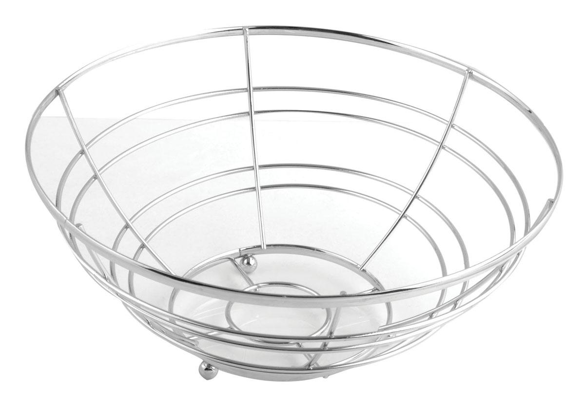 Фруктовница Trina, круглая. 93-TR-01-0693-TR-01-06Современный дизайн фруктовницы Trina, изготовленной из хромированной стали, идеально впишется в интерьер современной кухни. Выполнена в виде чаши, стенки которой состоят из металлических прутков. Фруктовница имеет ножки с металлическими шариками - для устойчивости. Характеристики: Материал: хромированная сталь. Размер: 25 см х 25 см х 12 см. Размер упаковки: 25,5 см х 25,5 см х 12,5 см. Производитель: Италия. Артикул: 93-TR-01-06.